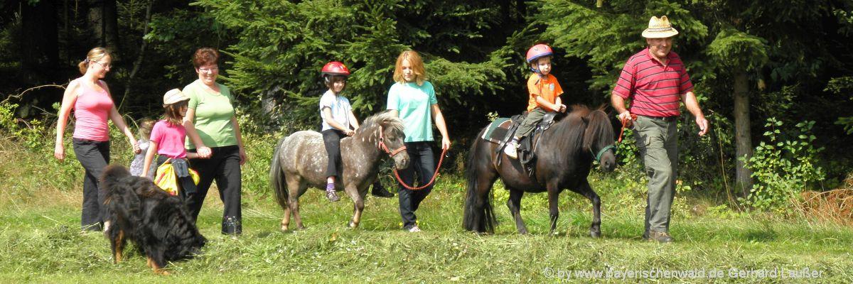 Reiturlaub für Familien mit Kindern in Bayern